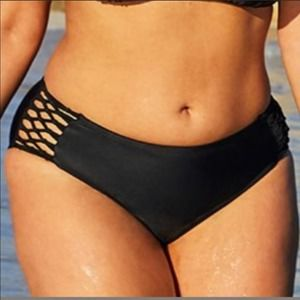 Ashley Graham Swimsuits for all Brief 12 Black